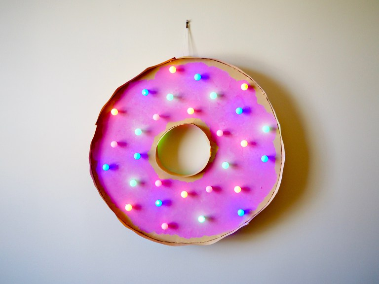 DIY donut marquee light