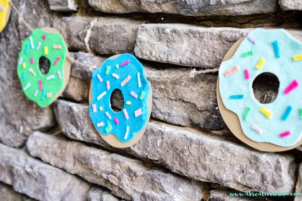 DIY felt donut banner