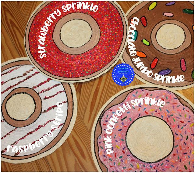 DIY donut placemats of plain IKEA ones