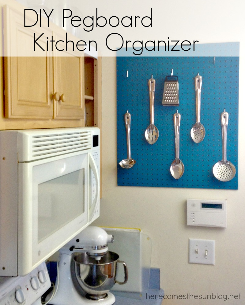 DIY pegboard utensil organizer