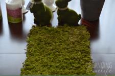 DIY moss table runner