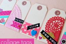 DIY colorful Valentine's Day gift tags