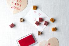 DIY balsa wood stamped gift tags