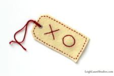 DIY embroidered Valentine gift tags
