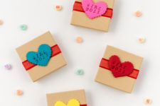 DIY galentine oven bake clay tags