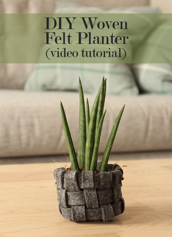 DIY Woven Felt Planter (via Www.thecraftygentleman.net) Idea