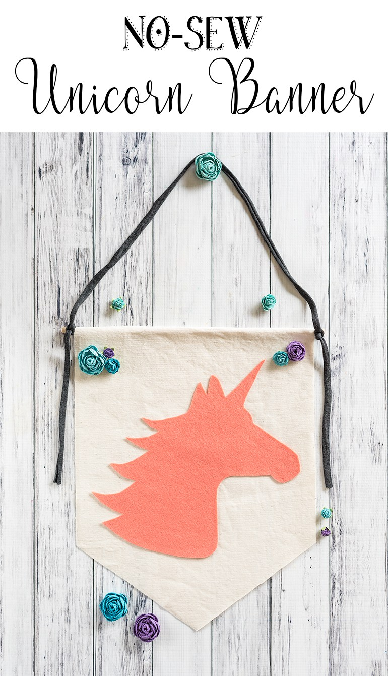 DIY no sew unicorn banner (via www.natashalh.com)