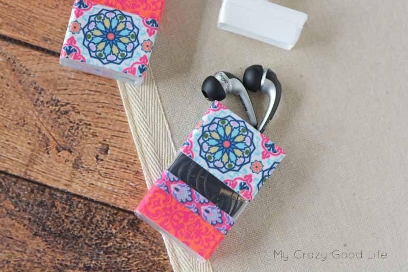DIY Tic Tac ear bud holder