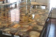 03 an elegant brown agate countertop is a timeless choice for a kitchen
