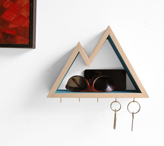 a mountain key rack and organizer is a great option for active people