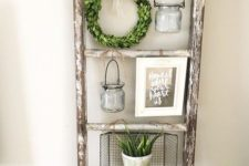 11 a shabby chic ladder shelf for displaying your favorite stuff
