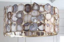14 an agate covered pendant lamp is a unique statement not only for a kitchen