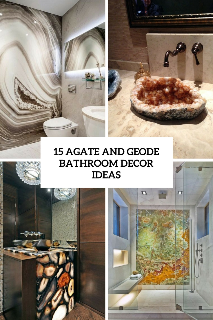 agate and geode bathroom decor ideas cover