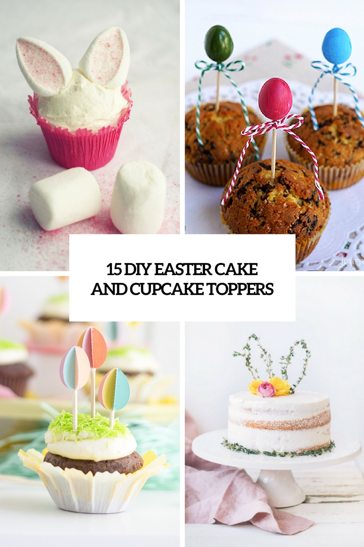 diy easter cake and cupcake toppers cover