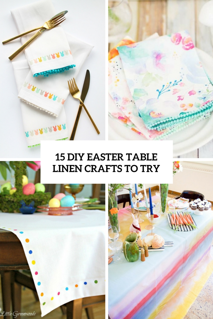 diy easter table llinen crafts to try cover