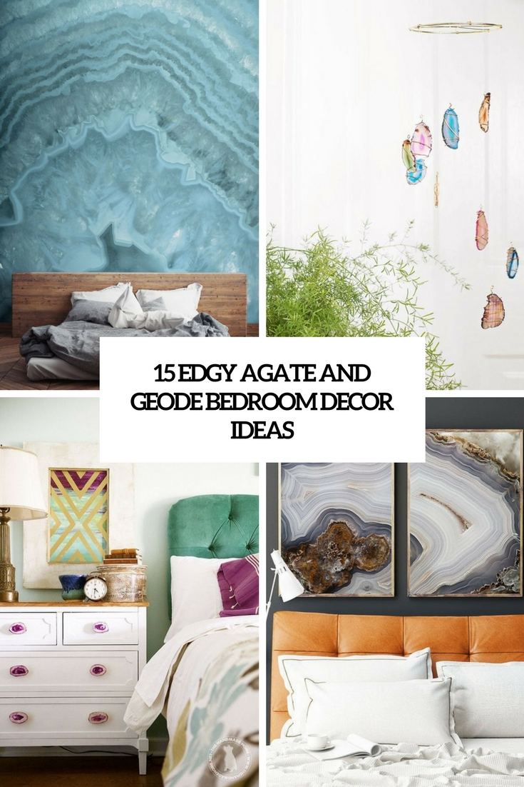 edgy agate and geode bedroom decor ideas cover