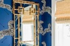take inspiration from zebras to create a super bold and catchy powder room