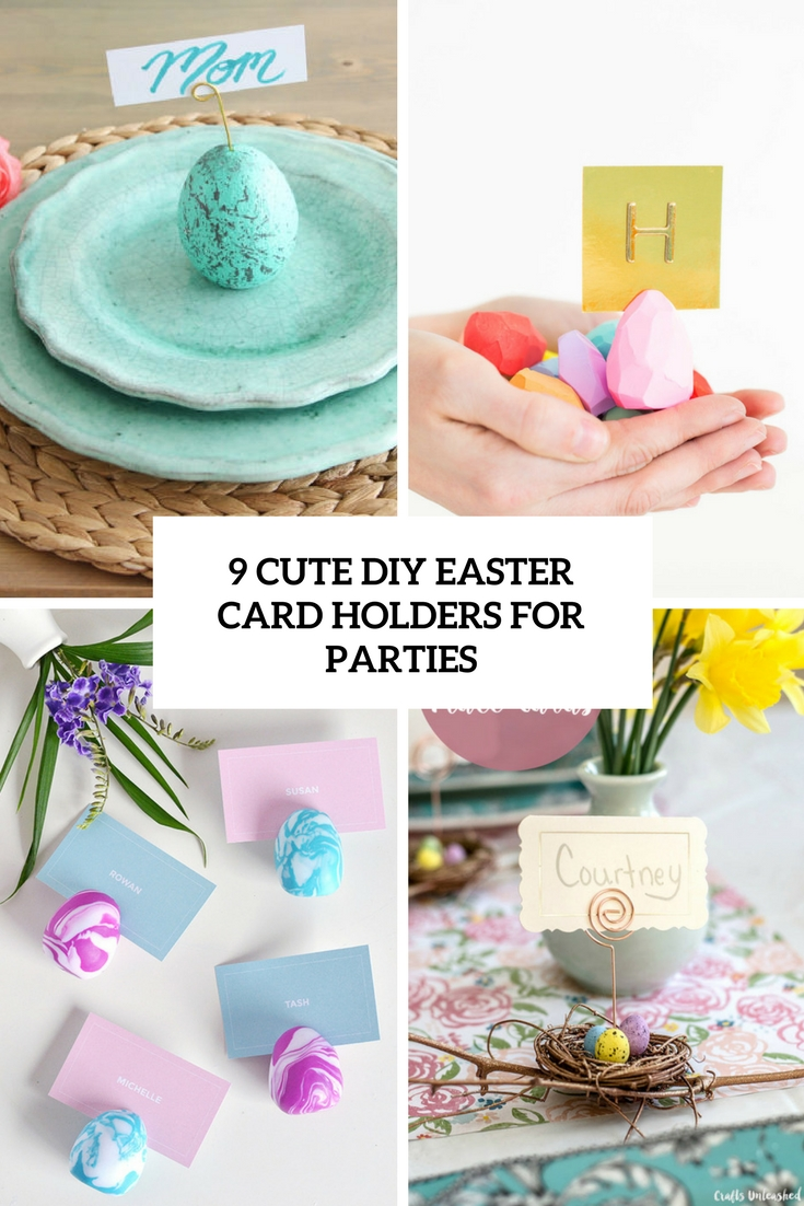 9 diy cute easter card holders for parties cover