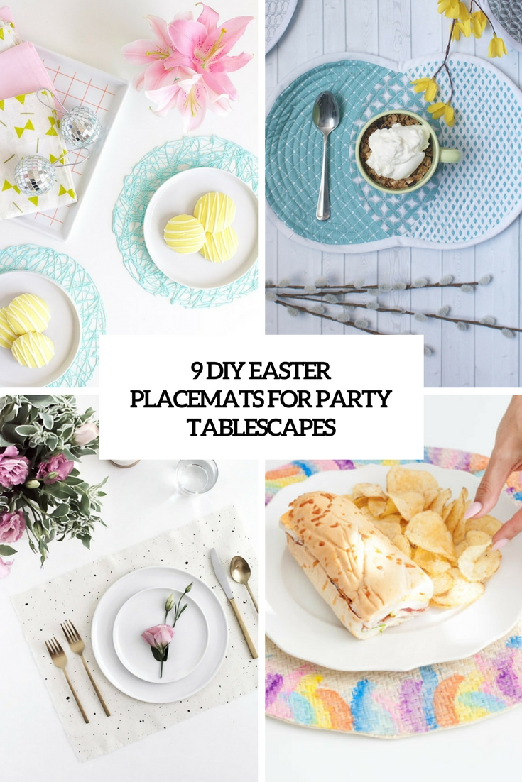 9 diy easter placemats for party tablescapes cover