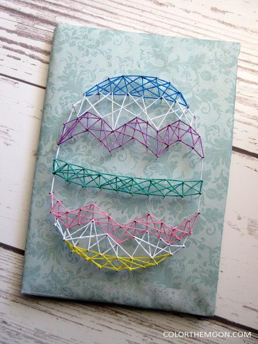 DIY colorful geometric Easter egg art (via colorthemoon.com)