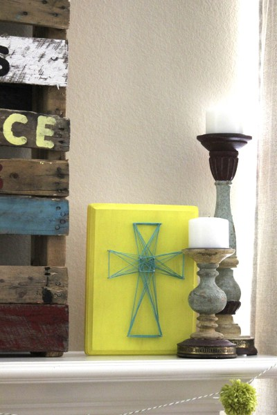 DIY Easter cross string art