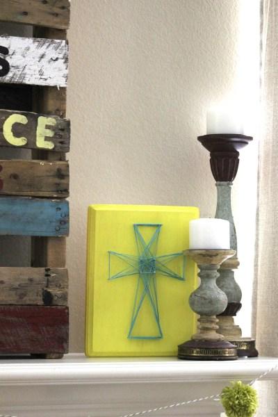DIY Easter cross string art (via wearethatfamily.com)