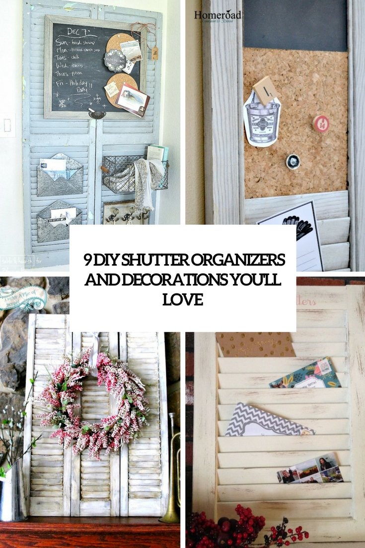 9 diy shutter organizers and decorations you'll love cover