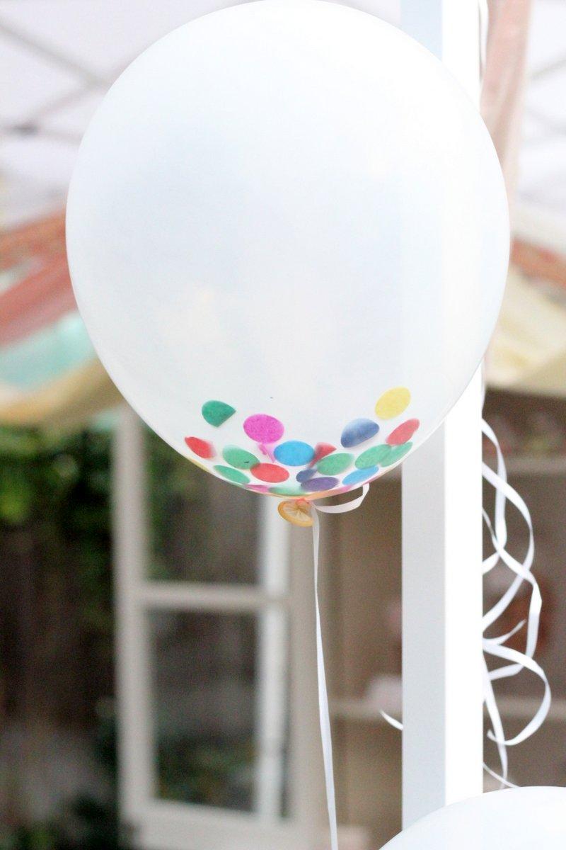 DIY confetti filled balloons