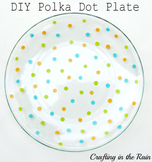 DIY painted confetti plates and cups