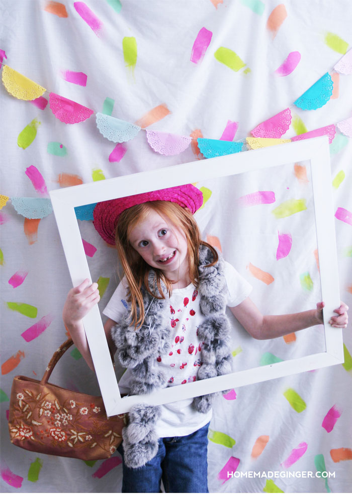 DIY painted confetti backdrop