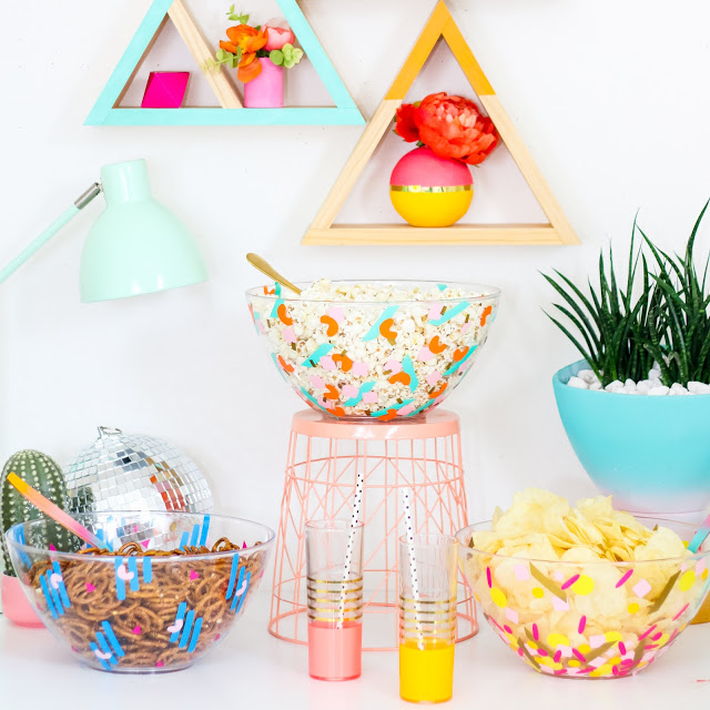 DIY confetti party serving bowls