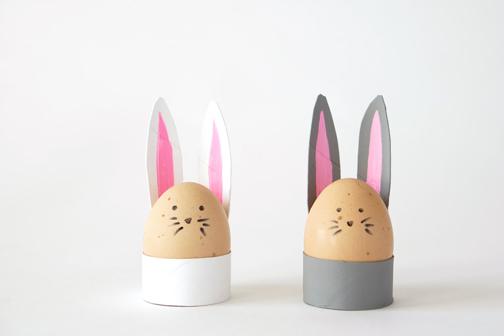 DIY toilet paper roll bunny egg holders