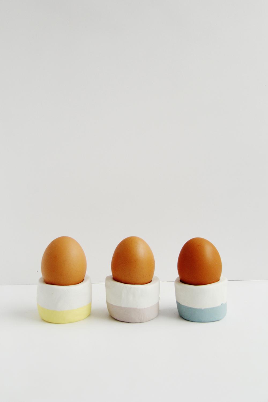 DIY pastel Easter egg cups