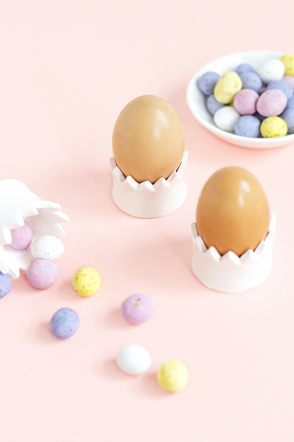 DIY clay crown egg cups (via makeandtell.com)