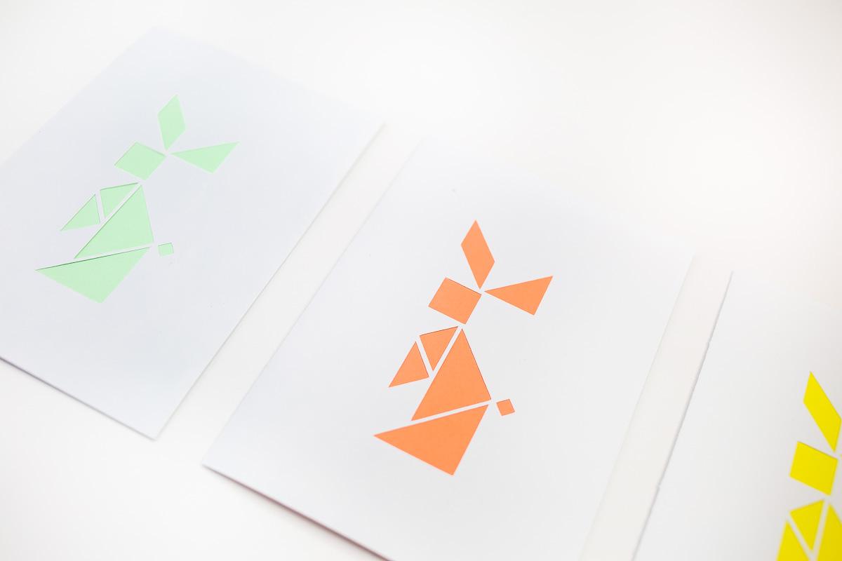 DIY Easter tangram bunny card