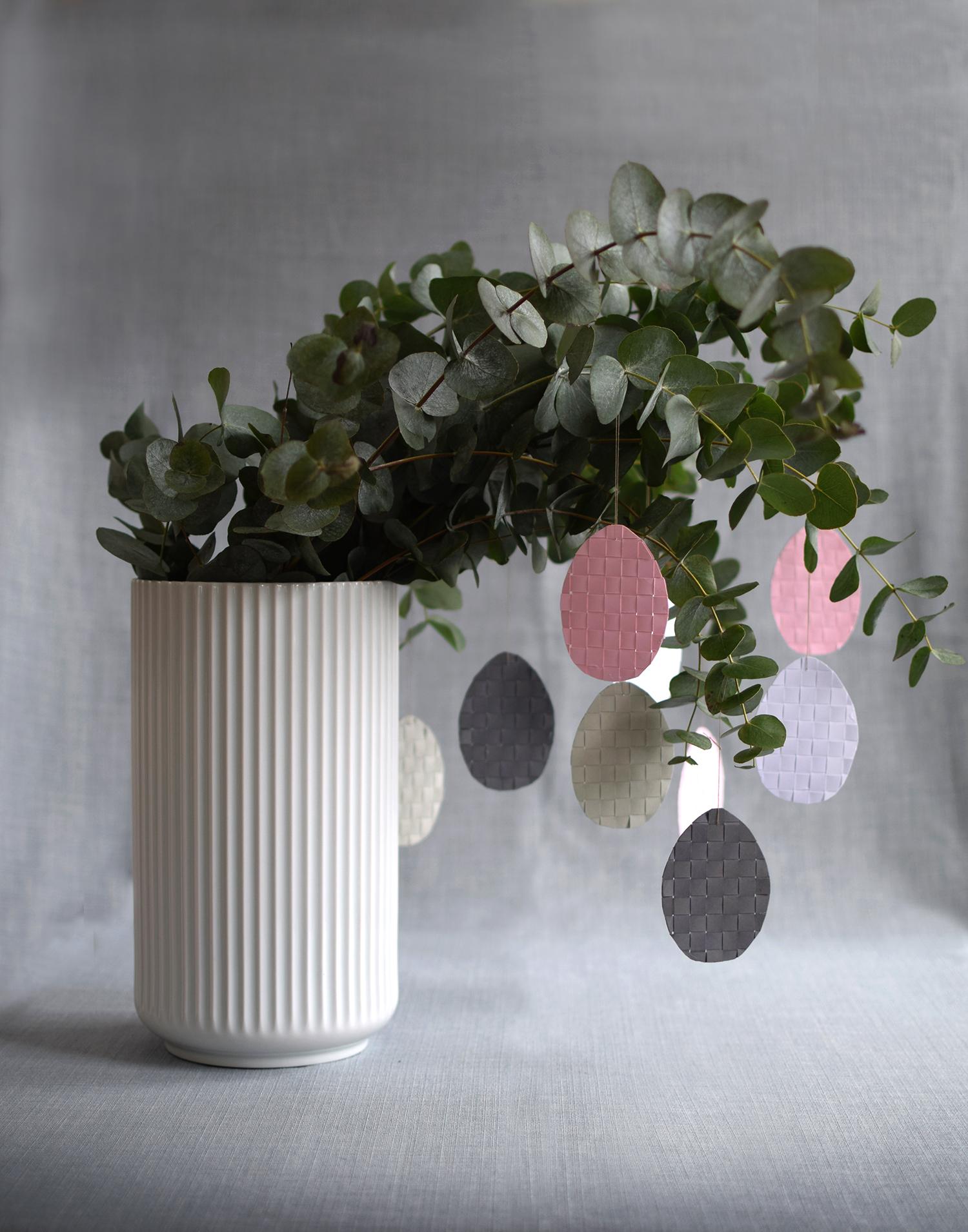 DIY pastel interwoven Easter egg ornaments