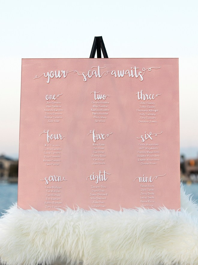 DIY painted wedding acrylic signs (via somethingturquoise.com)