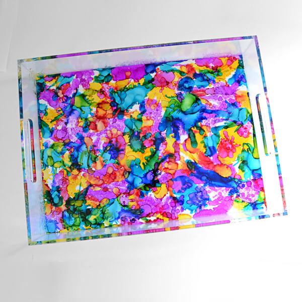 DIY colorful acrylic tray