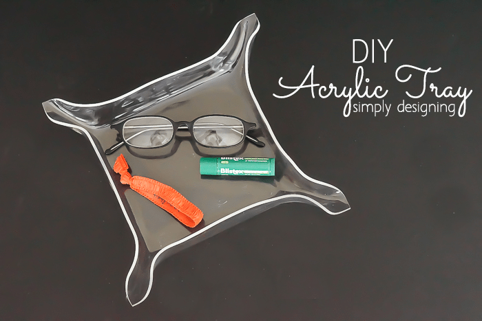 DIY acrylic tray shaped as a leather trinket dish (via simplydesigning.porch.com)