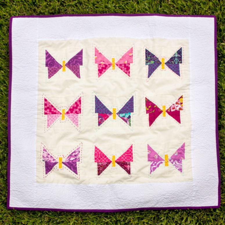 DIY butterfly quilted blanket (via www.iamlunasol.com)