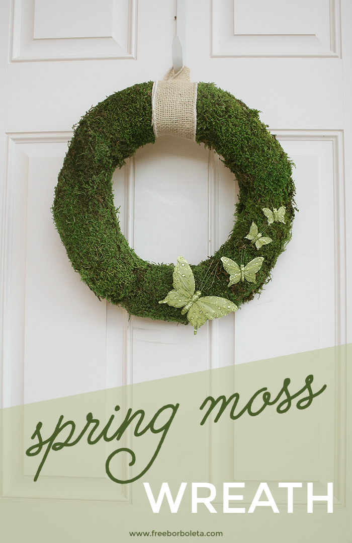 DIY psring moss and sparkling butterfly wreath (via www.259west.com)