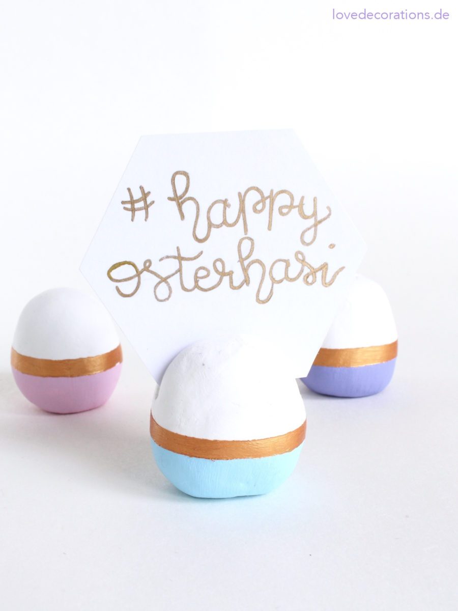 DIY color block egg card holders for Easter