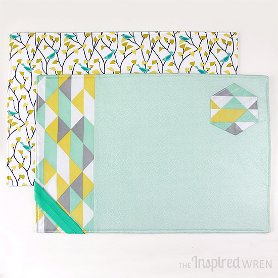 DIY spring and Easter placemats in refreshing colors (via theinspiredwren.blogspot.ru)