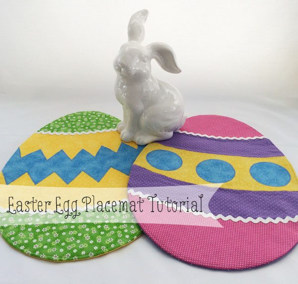 DIY Easter egg placemat of colorful fabric (via cleverlittlemouse.com)