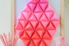 DIY ombre geometric paper Easter egg art
