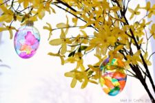 DIY stained glass egg ornaments