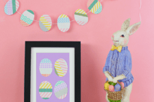 DIY washi tape Easter egg wall art