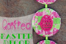 DIY colorful Easter art of cork coasters