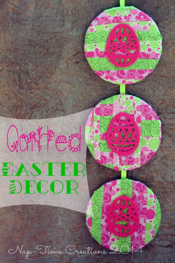 DIY colorful Easter art of cork coasters (via lifesewsavory.com)