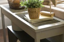 DIY shutter console table